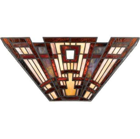 Craftsman Lampa klasyczna – Witrażowe – kolor pomarańczowy, Czerwony