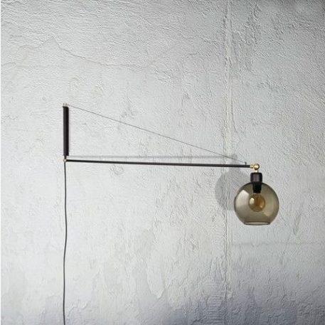 Crane  Kinkiet – szklane – kolor beżowy, Czarny