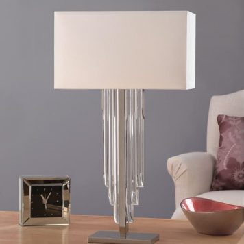 Crystal Cascade Lampa stołowa