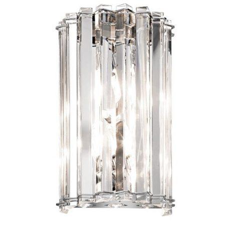 Crystal  Kinkiet – klasyczny – kolor srebrny, transparentny