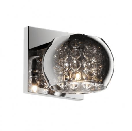 Crystal  Lampa nowoczesna – szklane – kolor Szary