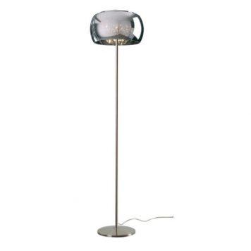 Crystal  Lampa podłogowa – Styl glamour – kolor srebrny, Szary