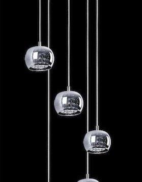 Crystal  Lampa wisząca – Styl nowoczesny – kolor Szary