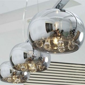 Crystal  Lampa wisząca – szklane – kolor Szary