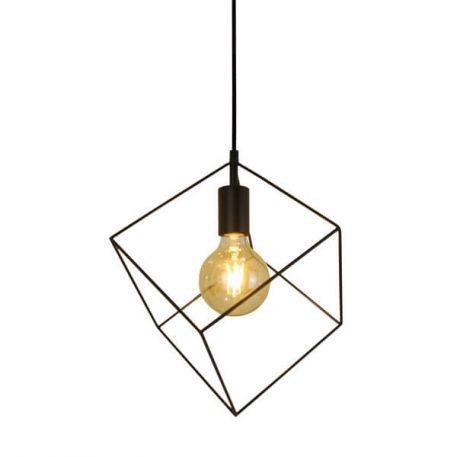 Cube  Lampa wisząca – industrialny – kolor Czarny