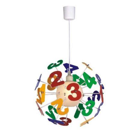 Cyfry Lampa wisząca – Styl nowoczesny – kolor żółty, Czerwony, Niebieski, Zielony