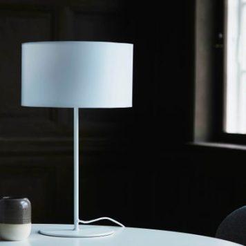Cylinder Lampa skandynawska – Z abażurem – kolor biały