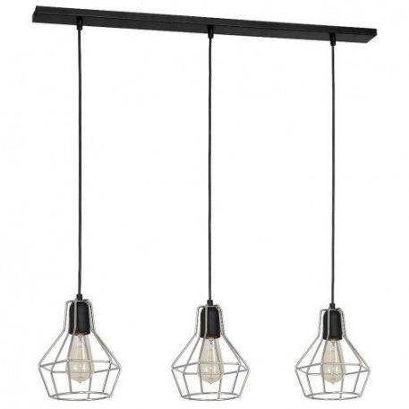 Cyrkon  Lampa wisząca – industrialny – kolor srebrny, Czarny