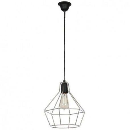 Cyrkon  Lampa wisząca – Styl skandynawski – kolor srebrny, Czarny