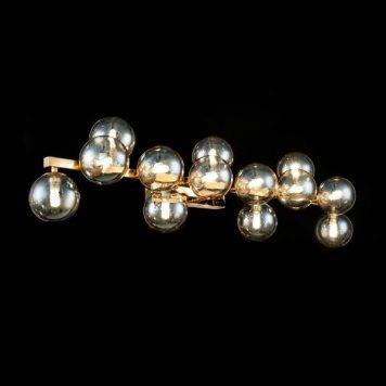 Dallas  Lampa nowoczesna – szklane – kolor beżowy, transparentny, złoty