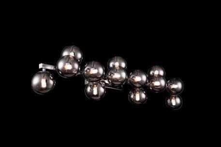 Dallas  Lampa nowoczesna – szklane – kolor srebrny, Szary