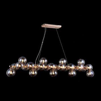 Dallas  Lampa wisząca – szklane – kolor beżowy, złoty