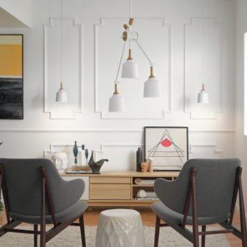 Danika Lampa wisząca – Styl skandynawski – kolor biały