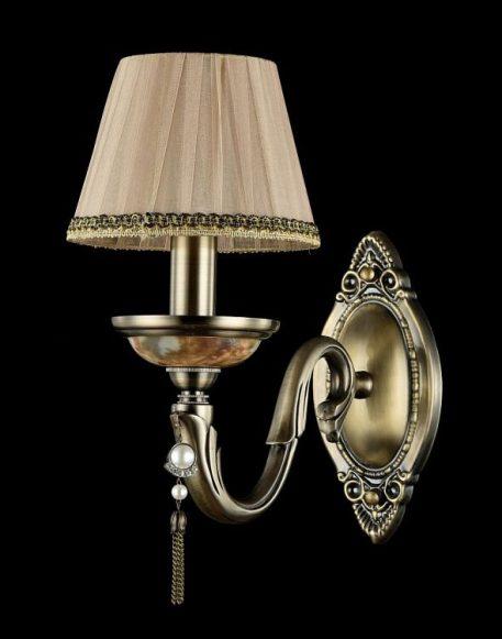 Demitas Lampa klasyczna – klasyczny – kolor beżowy, brązowy