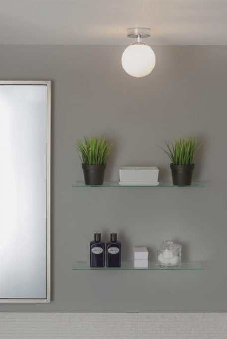 Denver  Lampa sufitowa – szklane – kolor biały, srebrny
