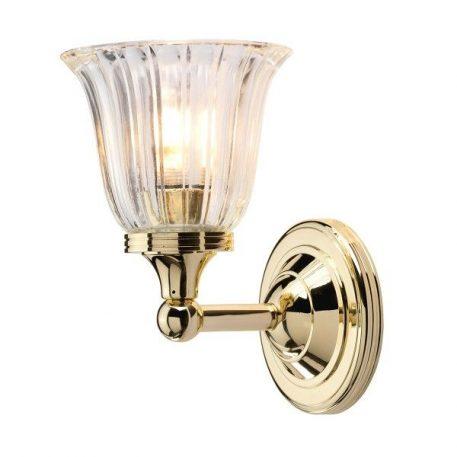 Devon Lampa klasyczna – szklane – kolor mosiądz, transparentny, złoty
