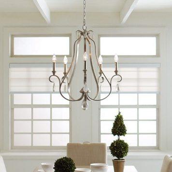 DeWitt Żyrandol – Świecznikowe – kolor srebrny