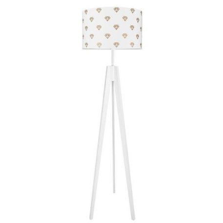 Diamenty  Lampa skandynawska – Z abażurem – kolor biały