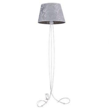 Diana Lampa podłogowa – klasyczny – kolor biały, srebrny, Szary