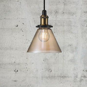 Disa Lampa wisząca – industrialny – kolor miedź, transparentny