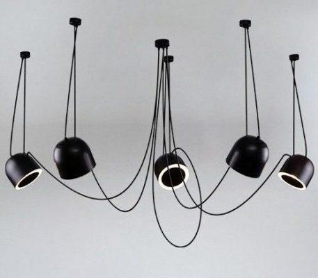 DOHAR Żyrandol – Styl nowoczesny – kolor Czarny