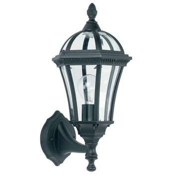 Drayton  Lampa zewnętrzna – klasyczny – kolor transparentny, Czarny