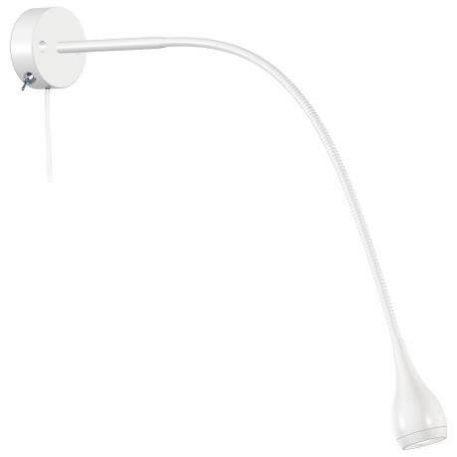 Drop Lampa nowoczesna – Do czytania – kolor biały