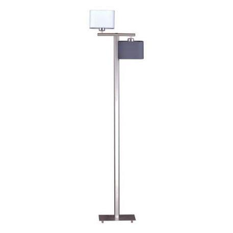 Duet  Lampa podłogowa – Styl nowoczesny – kolor biały, srebrny, Szary