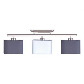 Duet  Lampa sufitowa – Z abażurem – kolor biały, srebrny, Szary