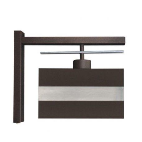 Ebi Lampa klasyczna – Z abażurem – kolor brązowy