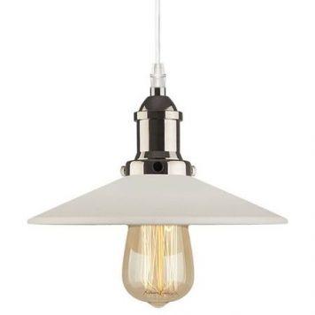Eindhoven Loft  Lampa wisząca – industrialny – kolor biały, srebrny