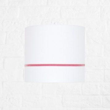Elegance Lampa nowoczesna – Z abażurem – kolor biały, różowy
