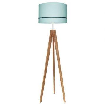 Elegance  Lampa skandynawska – Z abażurem – kolor brązowy, Niebieski