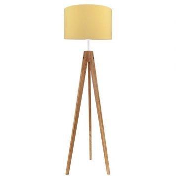 Elegance Lampa skandynawska – Z abażurem – kolor brązowy, żółty