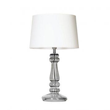 Elegant Classic Lampa modern classic – szklane – kolor biały, transparentny, Szary