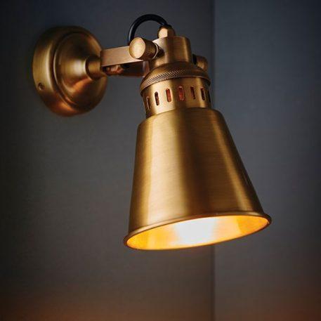 Elms Lampa industrialna – Do czytania – kolor mosiądz, złoty