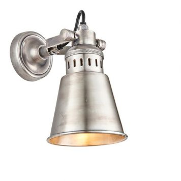 Elms Lampa industrialna – Do czytania – kolor srebrny