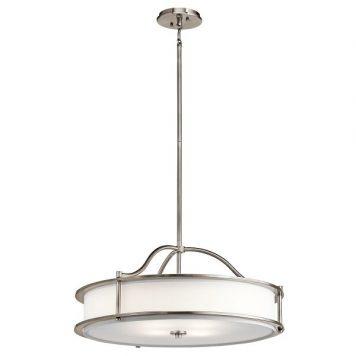 Emory Lampa wisząca – Styl nowoczesny – kolor biały, srebrny