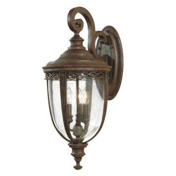 English Bridle Lampa zewnętrzna – klasyczny – kolor brązowy, transparentny