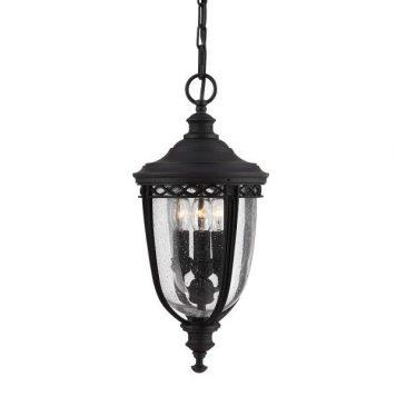 English Bridle Lampa zewnętrzna – klasyczny – kolor transparentny, Czarny