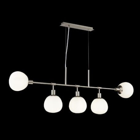 Erich  Lampa wisząca – szklane – kolor biały, srebrny