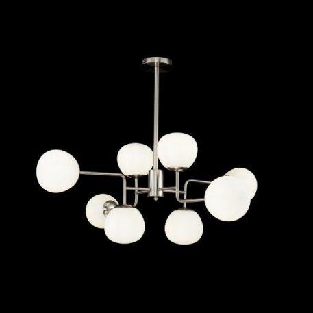 Erich  Żyrandol – szklane – kolor biały, srebrny
