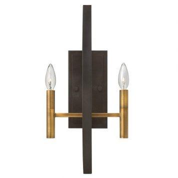 Euclid  Lampa klasyczna – klasyczny – kolor brązowy, złoty