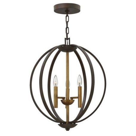 Euclid  Lampa wisząca – klasyczny – kolor brązowy, złoty