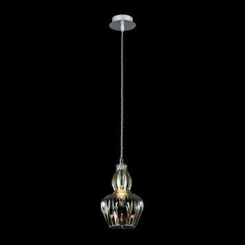 Eustoma  Lampa wisząca – szklane – kolor transparentny, Zielony