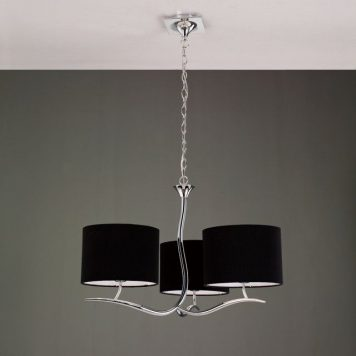 Eve Żyrandol – klasyczny – kolor srebrny, Czarny
