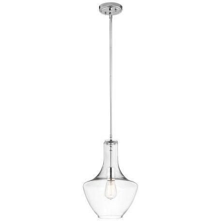 Everly  Lampa wisząca – Styl nowoczesny – kolor srebrny, transparentny