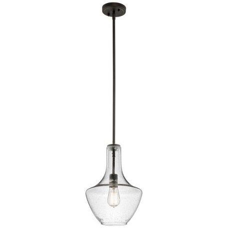 Everly Lampa wisząca – szklane – kolor brązowy, transparentny