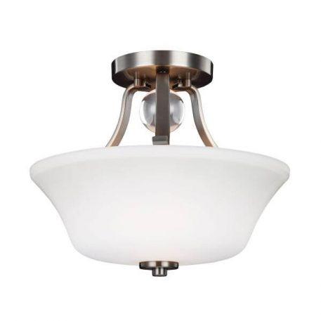 Evington Lampa sufitowa – szklane – kolor biały, srebrny