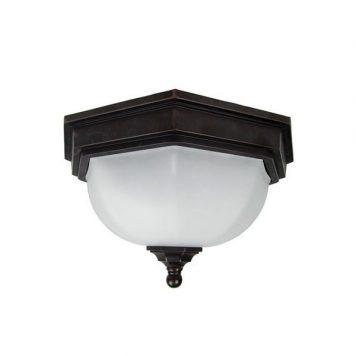 Fairford Lampa sufitowa – szklane – kolor biały, brązowy